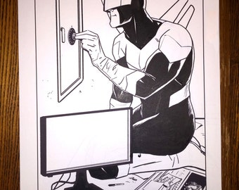 Superior Foes issue 14, page 1 Boomerang splash page!