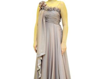 Sheer chiffon formal gown