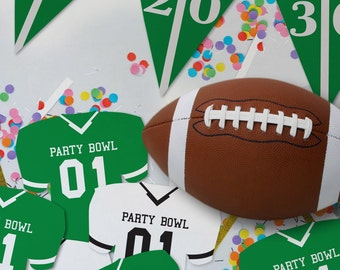 Bunting Only // Football Party Decorations // Customizable Downloadable + Printable