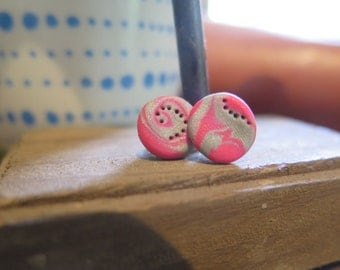 Pink & Grey earrings