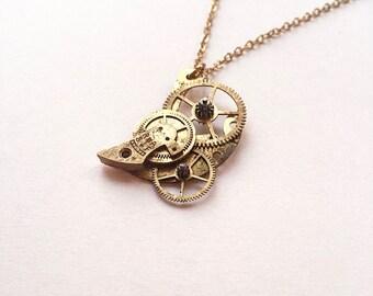 Clockwork Bird Necklace