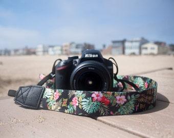 Camera Strap - Hilo Hawaiian design strap for DSLR or SLR camera, DSLR Camera Strap, Camera accessories. Canon / Nikon camera strap.