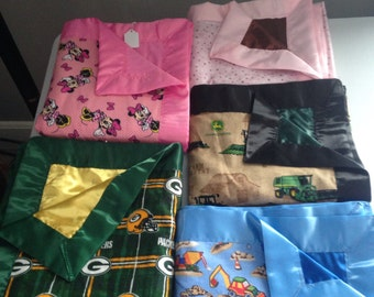 Silk lined baby blankets