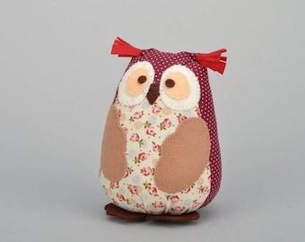 Handmade soft toy 'Owl'