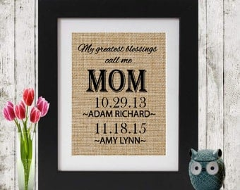 Mother's Day Gift - Gift for Mother's Day - My Greatest Blessings Call Me Mom - Personalized Gift for Mom - Gift for Her - Gift for Mom