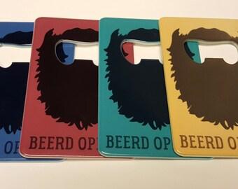 Beerd Openers Pocket Wallet Beer Bottle Opener Beard