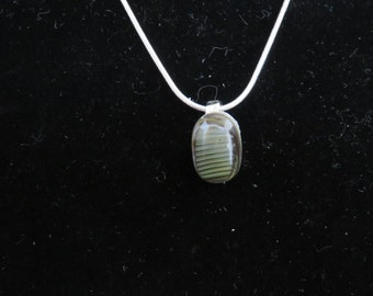 Small Gray Glass Pendant
