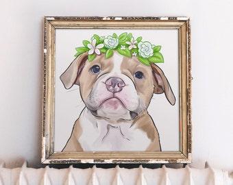 8x10 Dog Art, Custom Dog Portrait, Dog Art Custom, Dog Illustration Custom, Dog Portrait, Dog Memorial