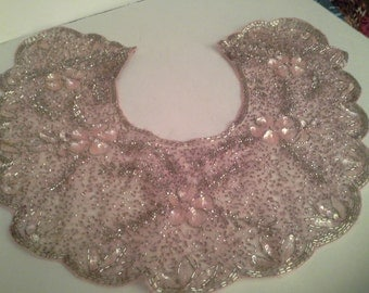 Beaded pink collar