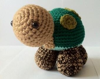 Turtle, Tortoise, Crochet, Amigurumi, Handmade, Soft Toy