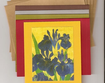 All Purpose Greeting Cards Homemade & Handcrafted - Inspired By Japanese Prints