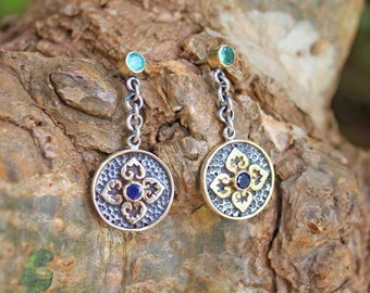 "Earrings ""Tatar Princess""."