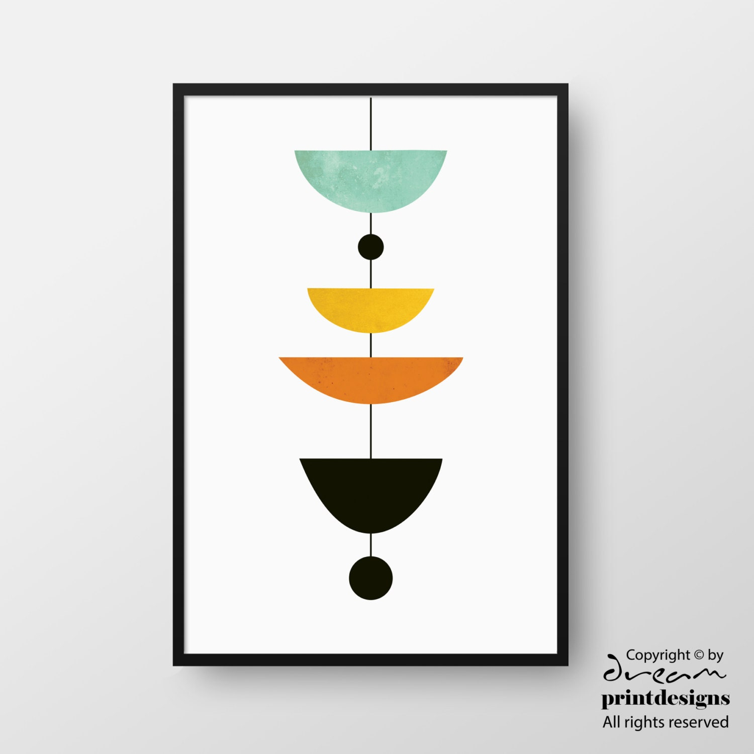 scandinavian poster mid century art modern print minimal. Black Bedroom Furniture Sets. Home Design Ideas
