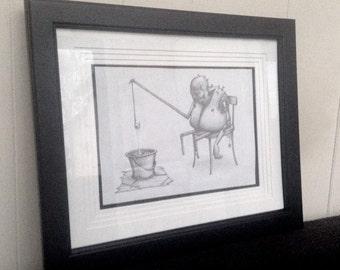 The Fisher - Original Framed Art