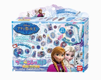 Disney Frozen Shrink Plastic - Jewelry Acessories - Shrinky Dinks - Anna and Elsa  By Bandai