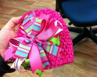 Multicolored Crochet Baby Cap