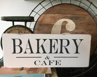 Cafe Sign; Kitchen Sign; Kitchen Cafe Sign; Bakery and Cafe; Farmhouse Kitchen Decor; Kitchen Art; farmhouse decor; Bakery & Cafe kitchen