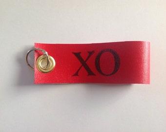 XO red vinyl keychain