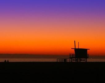 Lifeguard Hut at Sunset