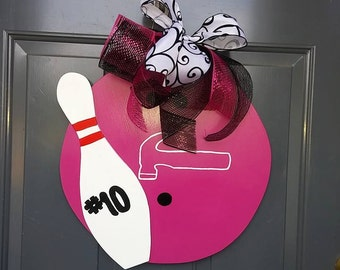 Bowling Ball Door hanger with Pin