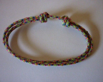 Multicolor rope bracelet