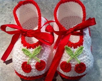 Baby shoes - ballerina - baby - spring - cherry