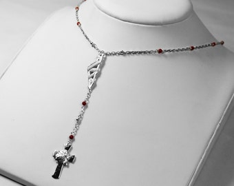 Rosary Corsica & coral necklace