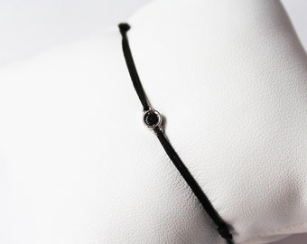 Bracelet with black diamond
