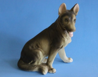 Porcelain German Shepherd by Erich Stauffer