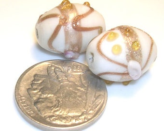 Antique Venetian Glass Oval Wedding Cake Trade Beads