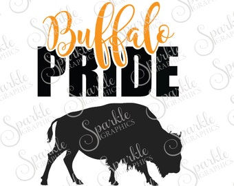 Buffalo Pride Cut File Buffalo High School Pride Wear Mascot Sports Clipart Svg Dxf Eps Png Silhouette Cricut Cut File Commercial Use
