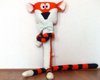 "Doll Tiger Plush with Bowtie ""Stripey Tiger"" by HandmadeBollies"