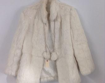 White Rabbit Vintage Fur - Upcyled