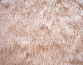Teddy Bear Fur, Cream Faux Fur Plush 25mm Long Pile Remnant