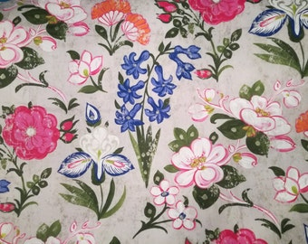 Designers Guild Fabric Linen Floral Upholstery Lotus Flower 1 Yard