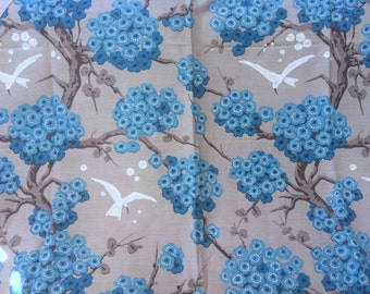 Linen Floral Fabric Osborne and Little Japanese Upholstery Fabric JAPONIERIE 1 Yard