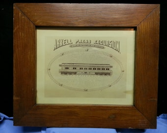 Oak framed, 'Arkell Press Excursion, World's Expostion, New Orleans March 8-22, 1885