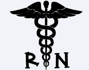 RN Car Decal, Nurse Decal, RN Water bottle decal