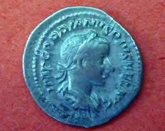Roman Empire, Silver Denarius of Gordion III, AD 238-244