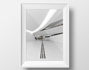 Minimal White Architecture Poster - Premium paper 12 x 18