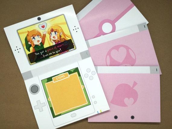 Nintendo Valentine Card cute valentine card geek greeting – Valentine Video Cards