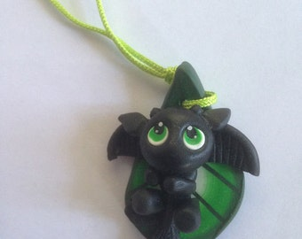Necklace with Cute Little Dragon Pendant