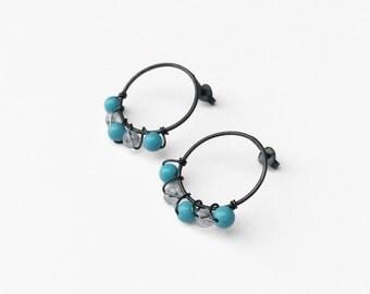 Anemone post earrings