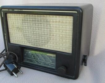 Vintage radio Voroshilov  Bulgaria retro decoration 1948 Old Radio