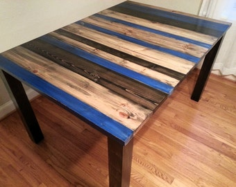 Rustic Distressed Dining Table / Rustic Dining Room Table
