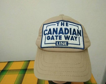 Rare Vintage The CANADIAN Gate Way Line Cap Hat Free size fit all