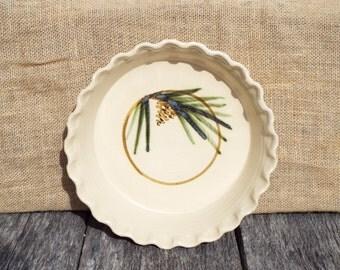 Pine Cone Deep Dish Pie Plate