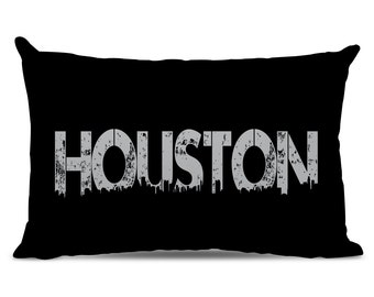 Houston Pillow - Houston Skyline Pillow - City Pillow - Urban Throw Pillow - Houston Gift - City of Houston