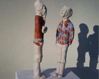 """Ceramic figurines """"Master & disciple"""""""