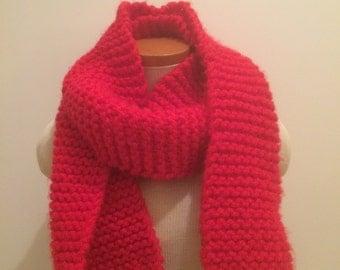 No fuss garter stitch scarf